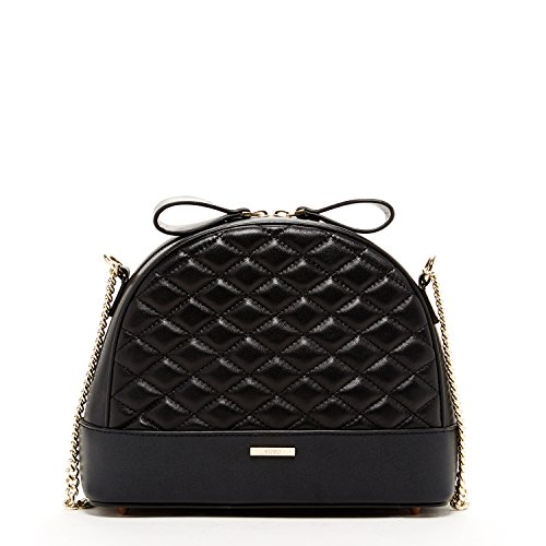 Black Cross body Purses for Women Quilted Leather Handbags Lambskin Designer Bags Cute Cross over with Chain Shoulder Strap Fashion Handbag for Gift Trendy It Bag Classic Crossbody Medium Size Purses ()