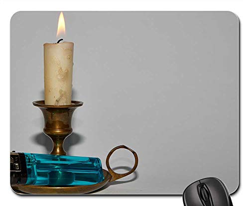Mouse Pads - Candle Brand Candlestick Candlelight Flare-Up ()