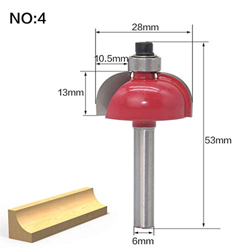 (1Pcs 6Mm Shank Wood Router Bit Straight End Mill Trimmer Cleaning Flush Trim Corner Round Cove Box Bits Milling Cutter NO4)
