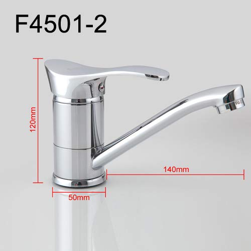 F4501-2 140mm U-Enjoy Chandelier Faucet Cold Kitchen and Water Top Quality Mixer Hot 360 redation Single Tap F4566-2 F4521-2 Handle F4501-2 Free Shipping [F4566-2 140mm]