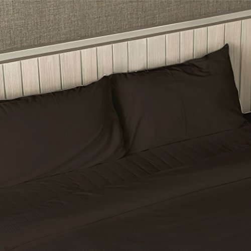 Bluff City Bedding 1800 Count Series Bamboo Feel Deep Pocket Luxury Bed Sheet Set 4 Piece (Twin Extra Long, Brown)