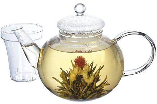 GROSCHE MONACO All Glass Hand Blown Teapot with Infuser 1250 ml 42 fl. oz Capacity