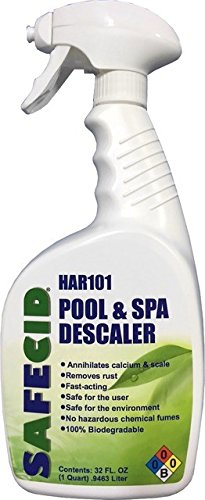 SAFECID Safe Calcium Scale Remover and Cleaner PS-HAR101QTS Pool & Spa Descaler Swimming Pool Scale Remover Tile Scale Remover Hot Tub Chemical (Quart Sprayer) Multi Purpose Scale Remover