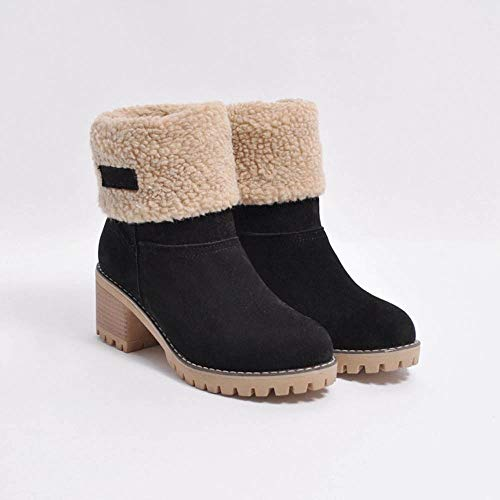 97f9924e2e Botines Invierno De Mujer Botas Señora Polp Nieve Zapato Zapatos Para Ancho  Negro Goma Tacon Vestir gPIq8w