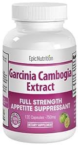 Epic Nutrition Garcinia Cambogia Extract - 120 Capsules - 750 mg per capsule