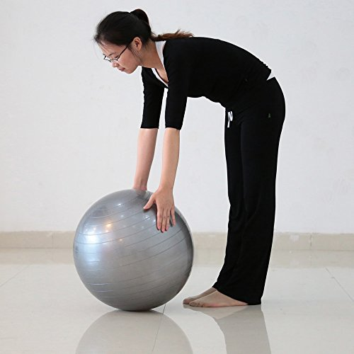 Docooler 40cm Fitness Exercise Gym Fit Yoga Ball Multi use Indoor Fitness Training Swiss Ball
