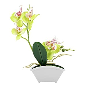 Taidda Artificial Butterfly Flower Pot, Simulation Artificial Flower Butterfly Orchid Decorative Plants Pot for Home Decor 106