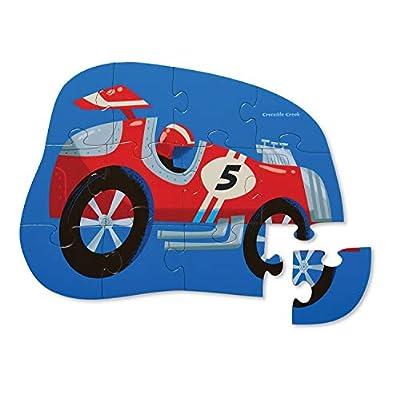 Crocodile Creek Mini 12 Pc at The Races Jigsaw Puzzle, 1 EA: Toys & Games