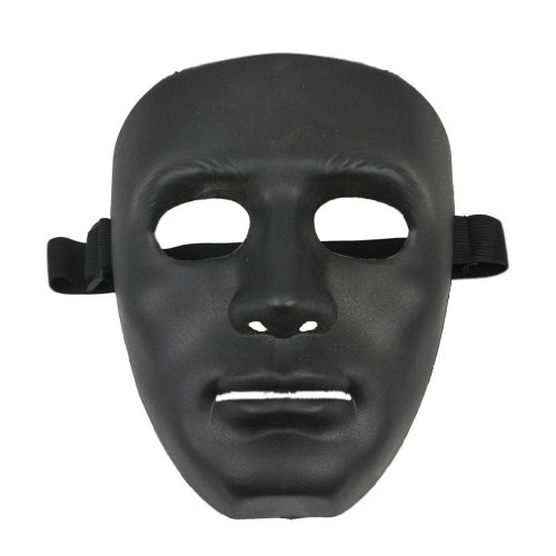 Mask-SODIAL(R) Black Halloween Mask, Material ABS -