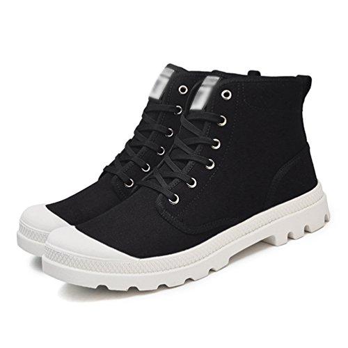 Anguang Sneakers Traspirante Unisex 2 da Scarpe Sportivo Guida Tela Alte Stringata di Scarpe Nero atqtArxn