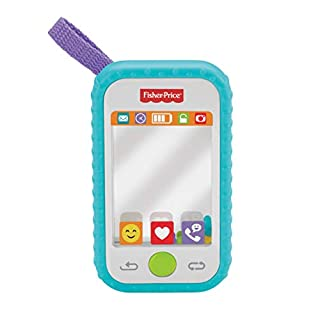 Fisher-Price #Selfie Fun Phone, Baby Rattle, Mirror and Teething Toy