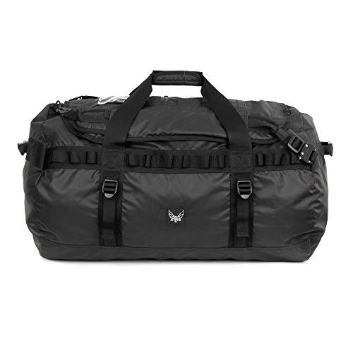 AMG Torino Lazer Cut MOLLE Heavy Duty Light Weight Nylon Carried as a Backpack or Duffle Bag TPU Black ()