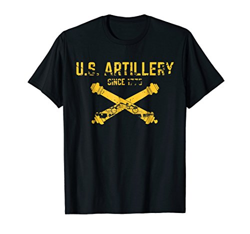 Army Artillery Pride 1775 Veteran Military Unit Support Tee