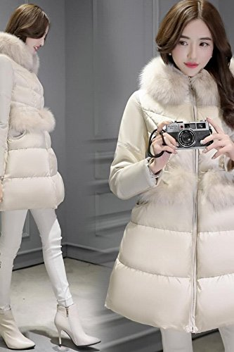 Generic 2018 Korean version temperament Nagymaros collar down jacket Girls long paragraph Slim thick winter coat fashion word for women girl