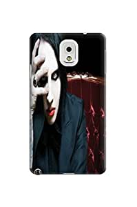 custom fashionable Cool Marilyn Manson Hard TPU phone case/cover/Shield/shell for Samsung Galaxy note3