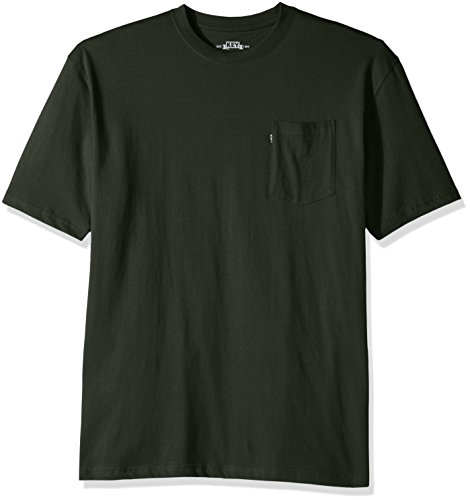 Key Apparel Men's Blended Tee Big and Tall, Forest Green, -