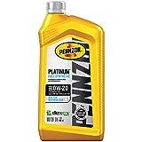 Pennzoil Platinum Full Synthetic Motor Oil (SAE, SN) 0W-20, 1 Quart - Pack of 1