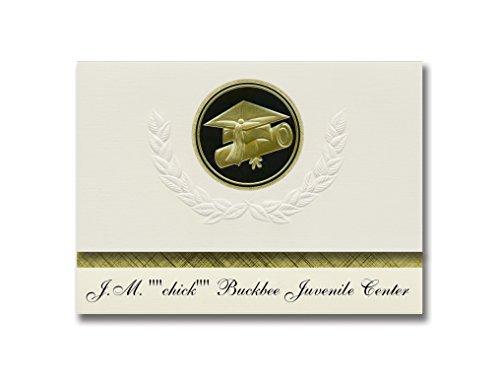 Chick Announcement - Signature Announcements JM chick Buckbee Juvenile Center (Augusta, WV) Graduation Announcements, Presidential Elite Pack 25 Cap & Diploma Seal Black & Gold