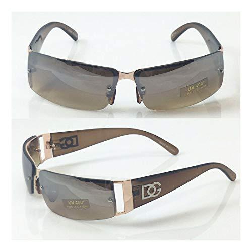 Wholesale Lot For Men's DG Eyewear Sunglasses Rectangular Shade 7085 BROWN