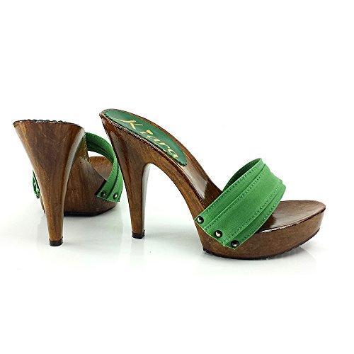shoes K21101 VERDE kiara TACCO ZOCCOLO CON wpvdYwxan