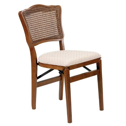 Stakmore French Cane-Back Folding Chair - Set of - Cane Folding Back Chairs