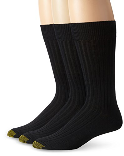 Gold Toe Men's Windsor Wool Dress Crew Socks (3-Pack)