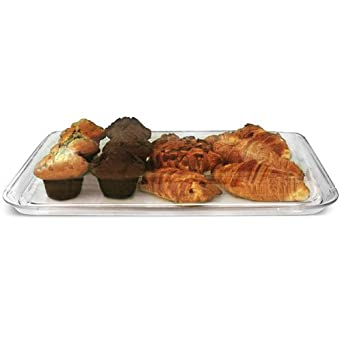 Polycarbonate Rectangular Cake Tray | Plastic Cake Plate Pastry Tray  sc 1 st  Amazon.com & Polycarbonate Rectangular Cake Tray | Plastic Cake Plate Pastry ...