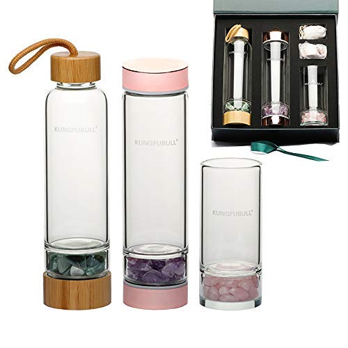 kungfubull Elixir Crystal Glass Water Bottle