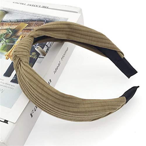 Women Hairband Hair Hoop Solid Print Headbands Girls Knotted Head Band Hair Band Turban Headwear (Solid -