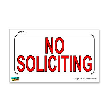 No Soliciting Window Wall Sticker
