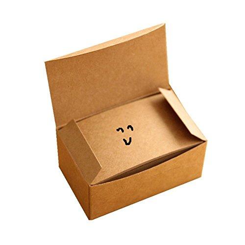 30OFF Fecedy 100 Pcs Vierges En Papier Kraft Cartes De Visite Word Carte Message