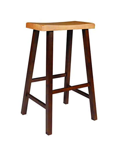 International Concepts 1S58-683 29-Inch Saddle Seat Stool, Cinnemon/Espresso ()