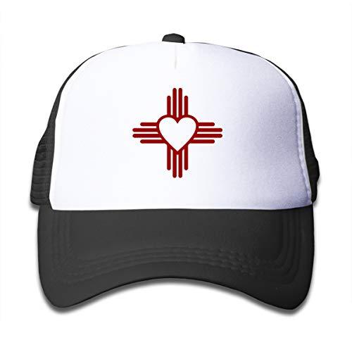 - New Mexico Sun Zia Boys&Girls Adjustable Baseball Mesh Caps Toddler Sun Visor Cap Black