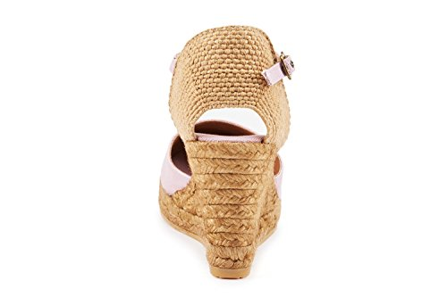 6 7 Viscata Pink toe nbsp;cm Made in Espadrilles Satuna Heel ankle Light Closed strap cuneo Classic Spain T1TrwgxE5q