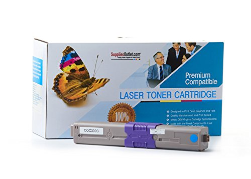 CYAN Toner for OKI Type C17, 44469703, C330DN, C331DN, C530DN, C531DN, MC351DN