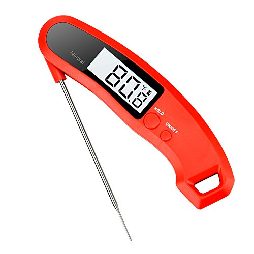 Youdgee Meat Thermometer, Digital Instant Read Cooking Food Thermometer for Grill, BBQ, Kitchen, Candy, Milk, ()