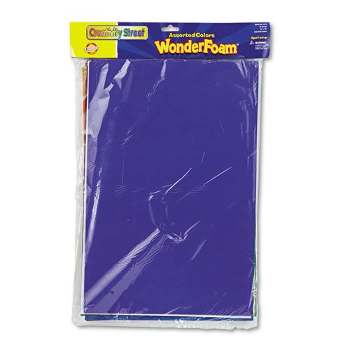 Chenille Kraft - Wonderfoam Sheets, 12 x18, Assorted Colors, 10 Sheets/Pack - Sold As 1 Pack - Water-resistant foam is fun to cut and paste.