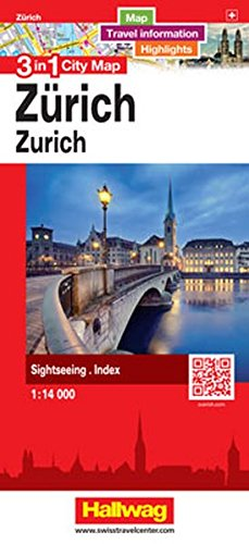 Download Zurich 3 in 1 City Map, 1:16,000 (English, French, Italian and German Edition) ebook