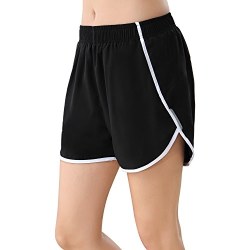 BELE ROY Running Yoga Shorts for Women,Activewear Jogging Shorts Gym Fitness Short Pant Light Comfortable with Pockets