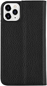 Case-Mate - iPhone 11 Pro Folio Case - Leather Wallet Folio - 5.8 - Black Leather