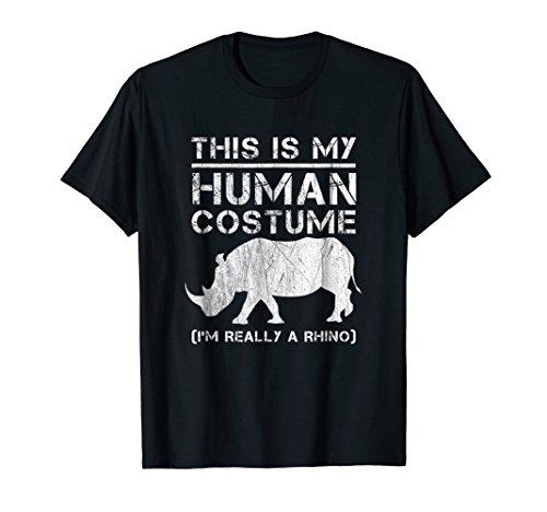 My Human Costume T-Shirt Save Rhino Rhinoceros shirts Gift