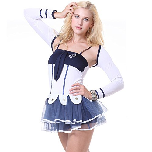 Pin Up Halloween Costumes Ideas (Sexy Navy Sailor Soldiers Halloween Costume Lace Mini Skirt Dress Outfit Uniform For Women Adult Female)