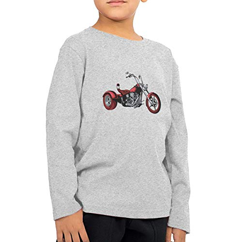 Unisex Baby Vintage Motorcycles Toddler's Long Sleeve Round Neck Casual Pullover T Shirt for Kid (Boys Girls) Gray]()