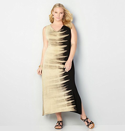 AVENUE-Womens-Tie-Dye-Drapeneck-Maxi-Dress