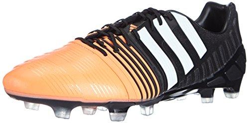 Adidas Nitro Lading 1 Fg, Mannen Voetbalschoenen Zwart (kern Zwart / Wit Ftwr / Oranje Knipperen S15)