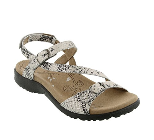 Taos Footwear Women's Beauty Bone Reptile Multi Sandal 11 M US
