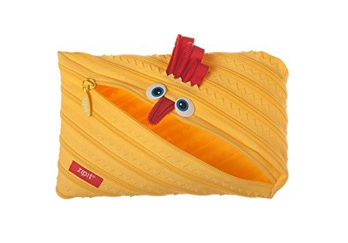 Zipit Animals Jumbo Pouch, Chicken (ZTMJ-AN-CK) Color: Yellow Model: ZTMJ-AN-CK Office Supply Product Store
