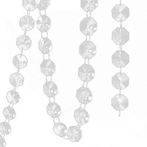 14mm cristal acrylique transparent octogonal Perle Hanging Décor de mariage Arbres Centerpiece Regard Natral