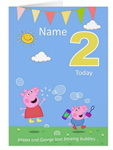 Peppa And George Peppa Pig Birthday Card Personalised Amazon