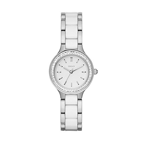 - DKNY Women's 'Chambers' Quartz Stainless Steel and Ceramic Casual Watch, Color:Silver-Toned (Model: NY2494)